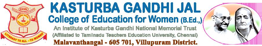 KASTURBA GANDHI JAL COLLEGE OF EDUCATION